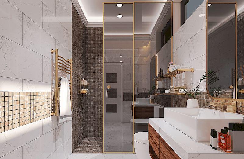 Nội thất phòng wc nhà phố hiện đại
