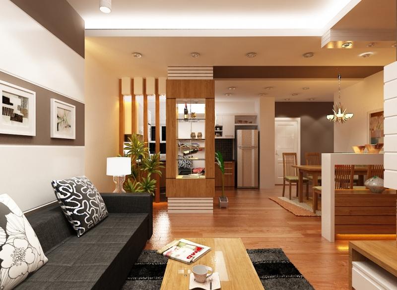 mẫu thiết kế nội thất cho nhà 3 tầng