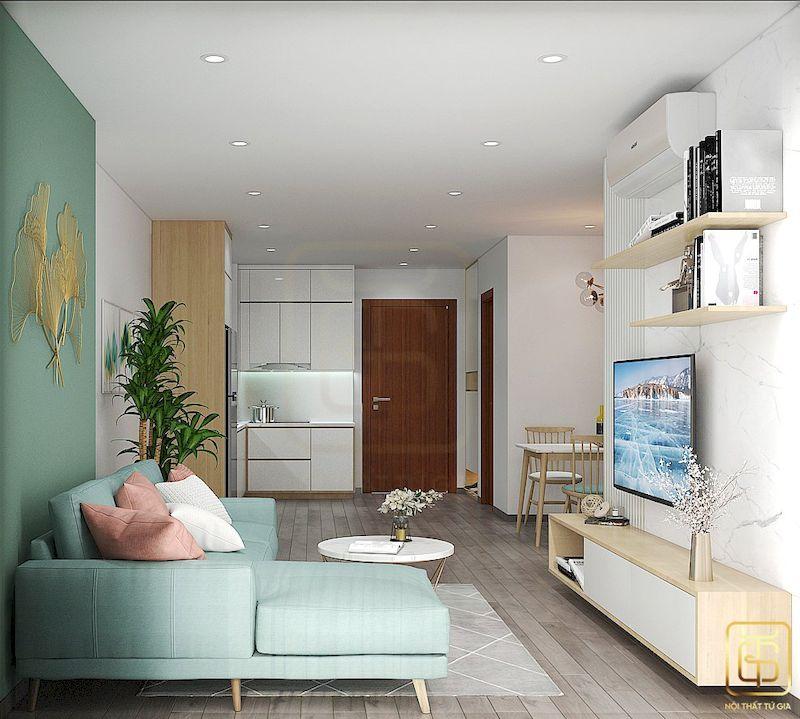 Thiết kế nội thất chung cư phong cách Hàn Quốc - View 1