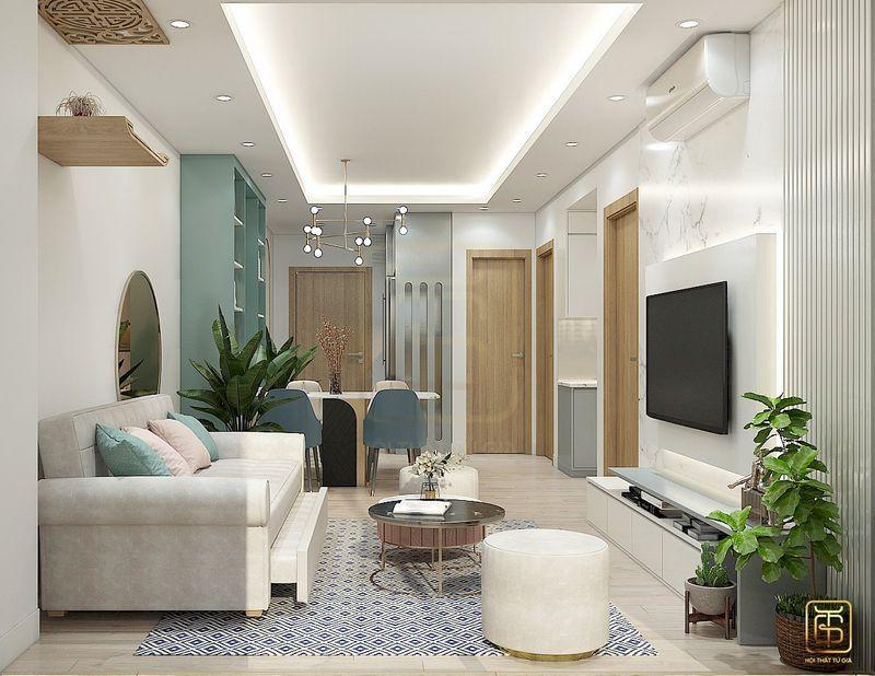 Nội thất căn hộ chung cư hiện đại - View 1