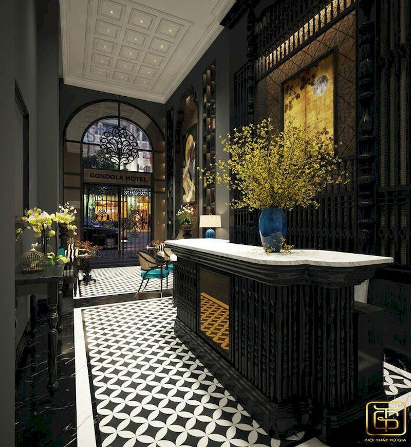 Thiết kế nội thất sảnh khách sạn 4 sao