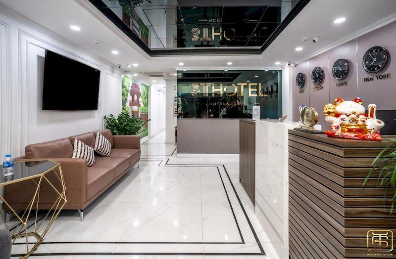 Thiết kế nội thất sảnh khách sạn 3 sao