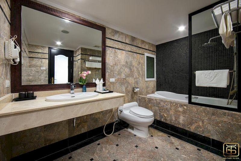 Thiết kế nội thất phòng tắm khách sạn 4 sao