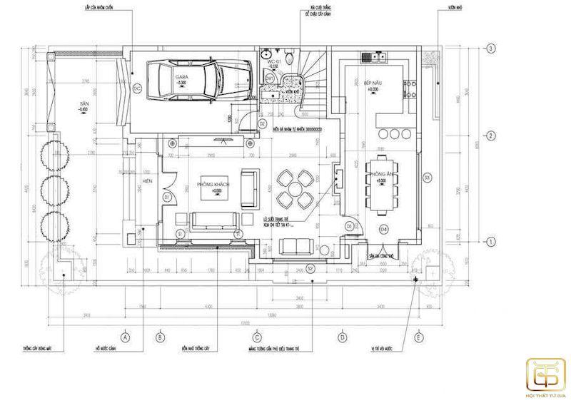 Nội thất nhà ống mặt tiền 5m