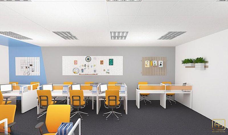 Thiết kế nội thất phòng làm việc hiện đại thiết kế đơn giản