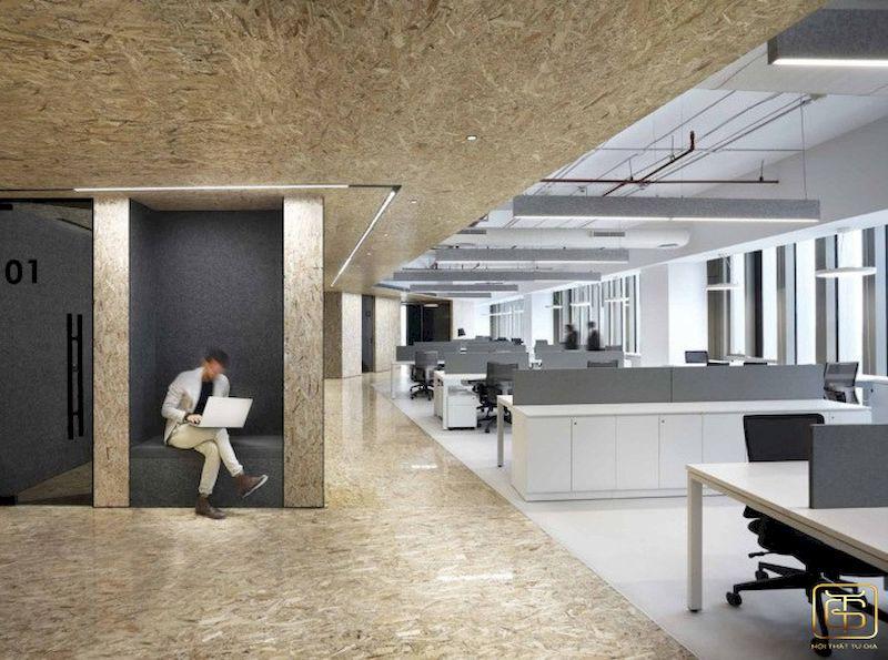 Không gian văn phòng thoáng hơn, mang lại cảm giác sảng khoái cho mọi người.