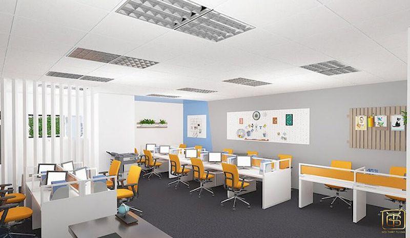 Một văn phòng hiện đại không gian đầy đủ tiện nghi