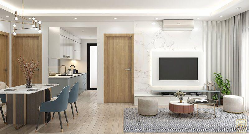 Mẫu thiết kế nội thất chung cư - View 4