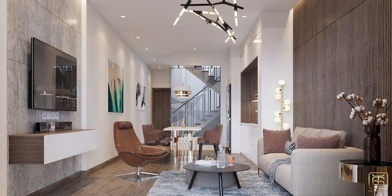 Mẫu bố trí nội thất nhà phố - View 1