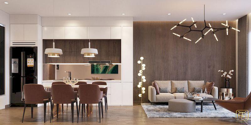 Mẫu bố trí nội thất nhà phố - View 3