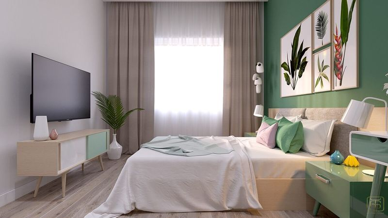 Mẫu thiết kế nội thất căn hộ chung cư 1 phòng ngủ 45m2 đẹp - View 5