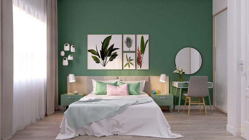 Mẫu thiết kế nội thất căn hộ chung cư 1 phòng ngủ 45m2 đẹp - View 4