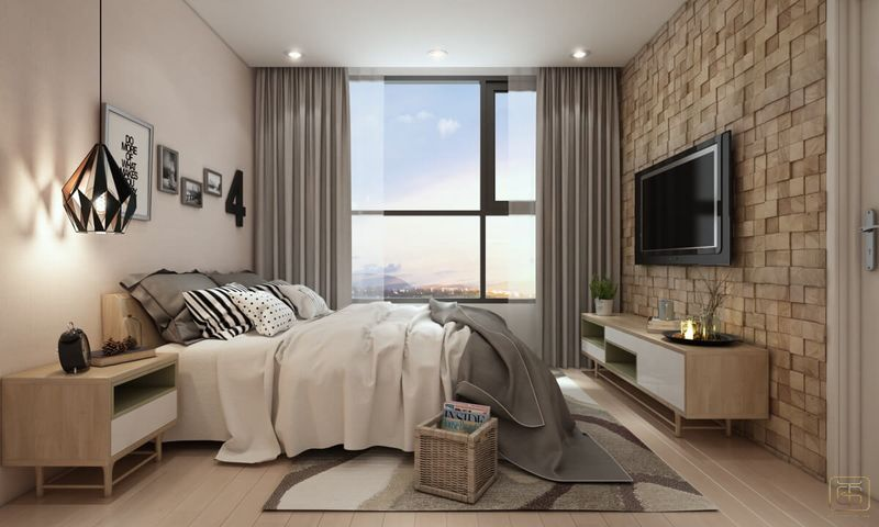 Thiết kế chung cư 1 phòng ngủ 60m2 - View 5