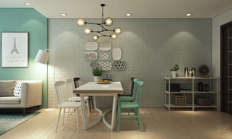 Thiết kế chung cư 1 phòng ngủ 60m2 - View 3