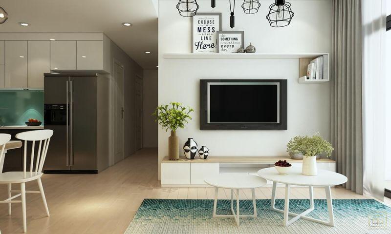 Thiết kế chung cư 1 phòng ngủ 60m2 - View 2