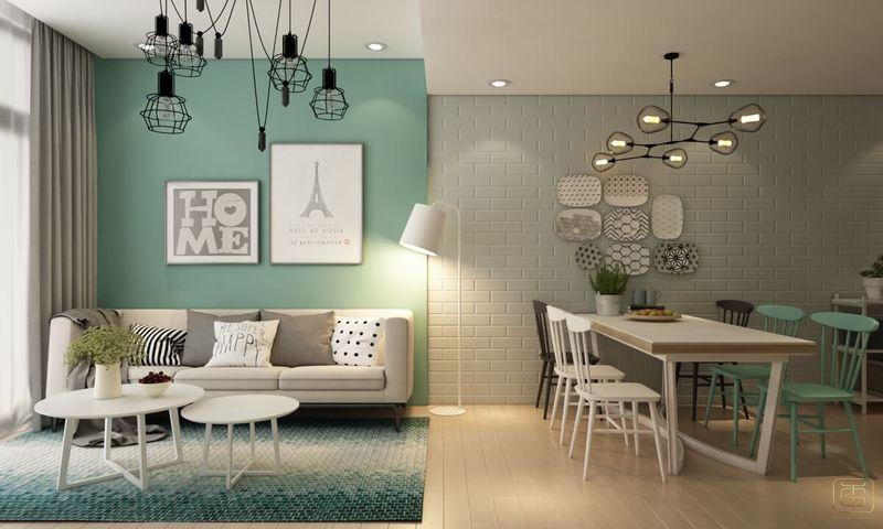 Thiết kế chung cư 1 phòng ngủ 60m2 - View 1