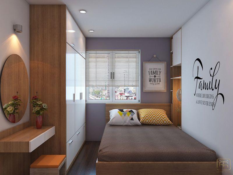 Thiết kế phòng ngủ căn hộ 2 phòng ngủ