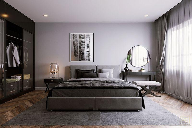 Thiết kế nội thất chung cư 2 phòng ngủ 70m2 đẹp - View 5