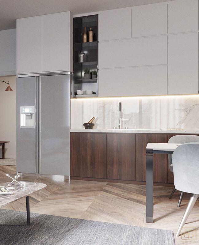 Thiết kế nội thất chung cư 2 phòng ngủ 70m2 đẹp - View 4