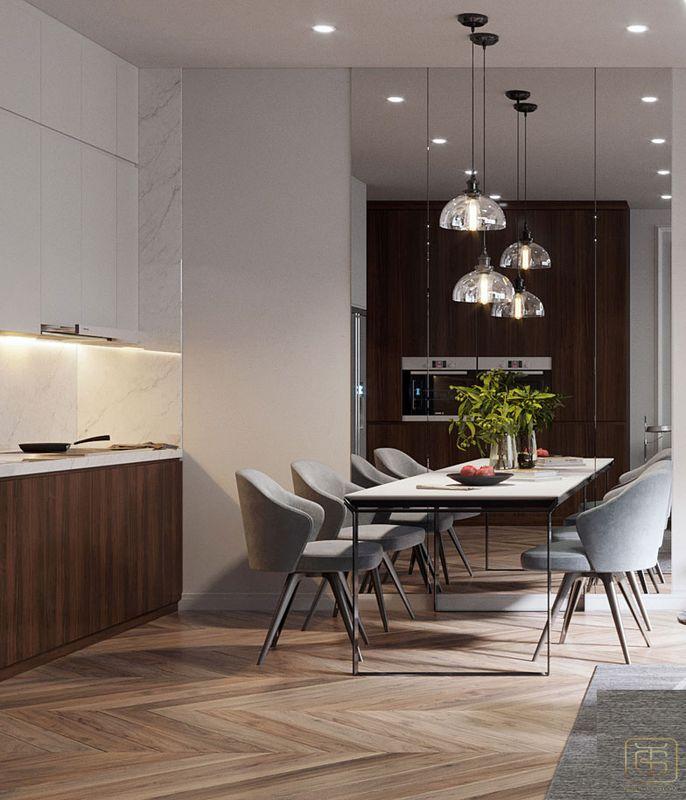 Thiết kế nội thất chung cư 2 phòng ngủ 70m2 đẹp - View 3