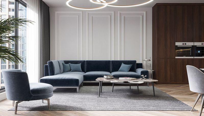 Thiết kế nội thất chung cư 2 phòng ngủ 70m2 đẹp - View 2