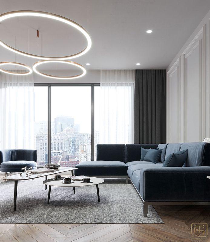 Thiết kế nội thất chung cư 2 phòng ngủ 70m2 đẹp - View 1