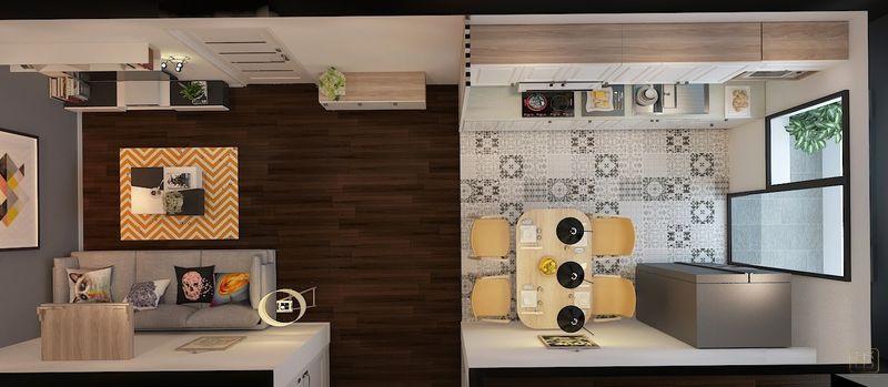Thiết kế cho căn hộ 2 phòng ngủ 55m2 đẹp