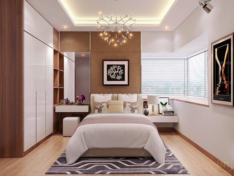 Thiết kế nội thất chung cư 2 phòng ngủ phòng ngủ