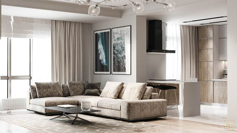 Thiết kế căn hộ 100m2 3 phòng ngủ tân cổ điển