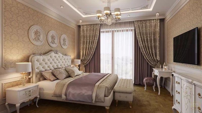 Thiết kế căn hộ 120m2 3 phòng ngủ phong cách cổ điển - View 4