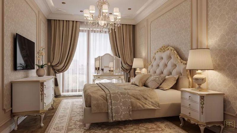 Thiết kế căn hộ 120m2 3 phòng ngủ phong cách cổ điển - View 3