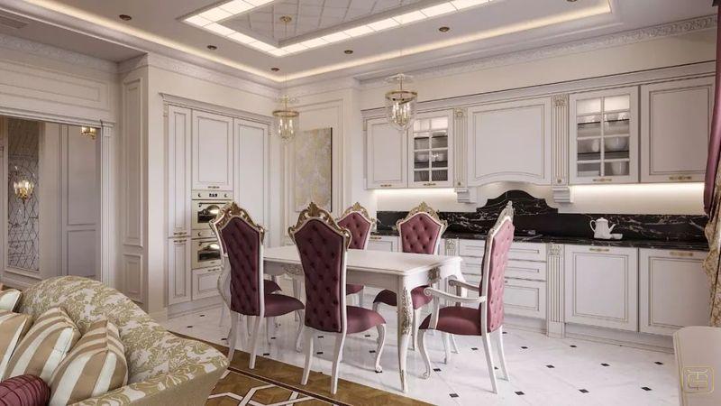 Thiết kế căn hộ 120m2 3 phòng ngủ phong cách cổ điển - View 2