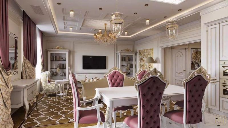 Thiết kế căn hộ 120m2 3 phòng ngủ phong cách cổ điển - View 1