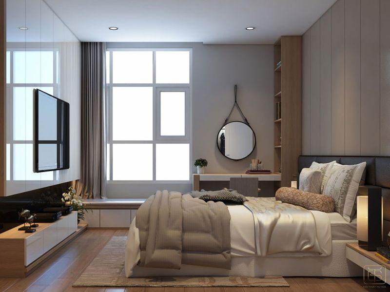 Thiết kế căn hộ chung cư 80m2 3 phòng ngủ