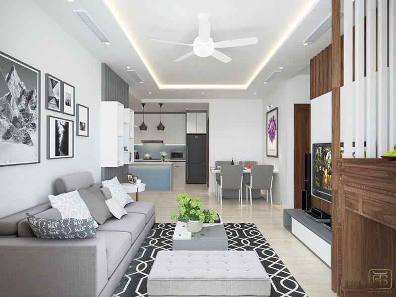 Thiết kế căn hộ chung cư 3 phòng ngủ đẹp