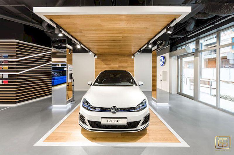 Thiết kế showroom ô tô sang trọng