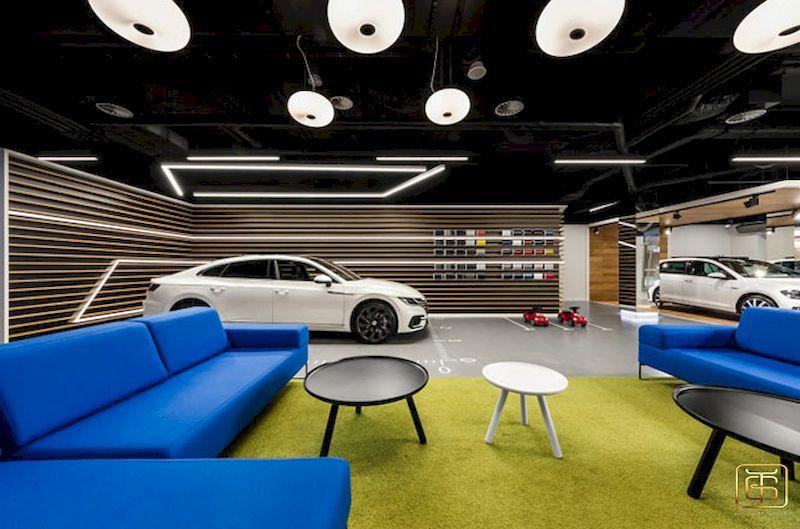 Thi công nội thất showroom trưng bày ô tô đẹp