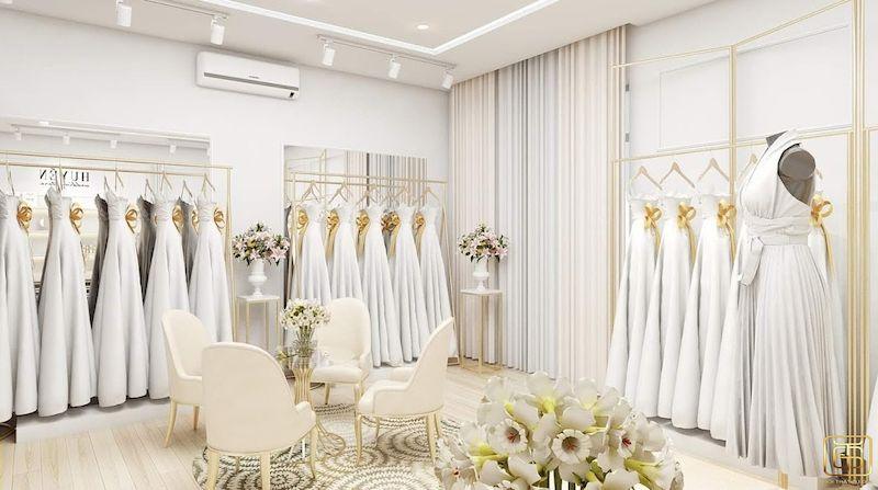 Showroom trưng bày áo cưới đẹp sang trọng - M9