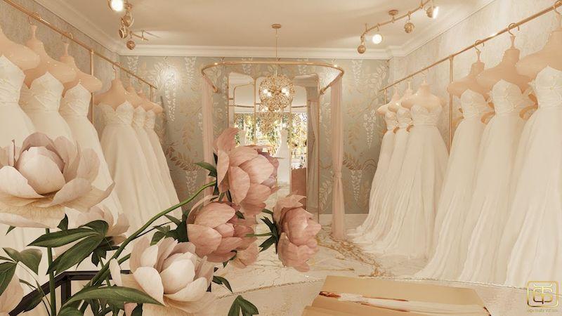 Showroom trưng bày áo cưới đẹp sang trọng - M8