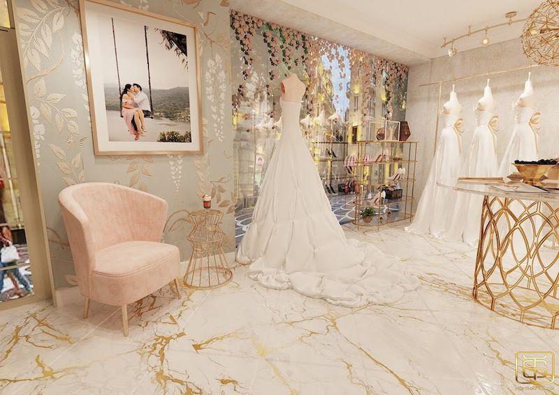 Showroom trưng bày áo cưới đẹp sang trọng - M7