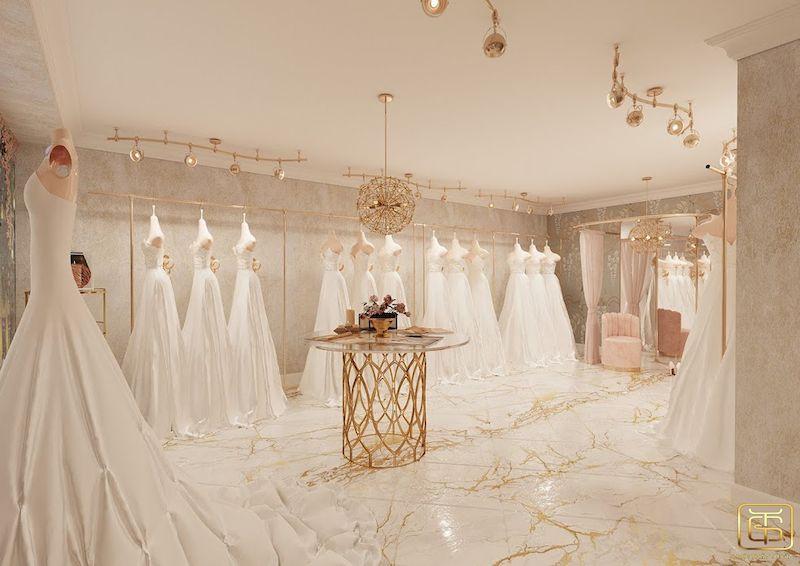 Showroom trưng bày áo cưới đẹp sang trọng - M5