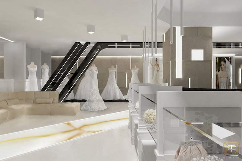 Showroom trưng bày áo cưới đẹp sang trọng - M3