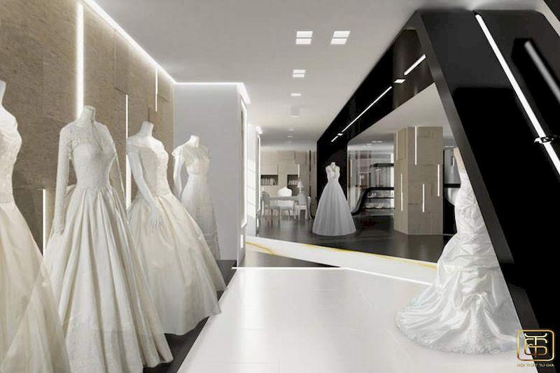 Showroom trưng bày áo cưới đẹp sang trọng - M2